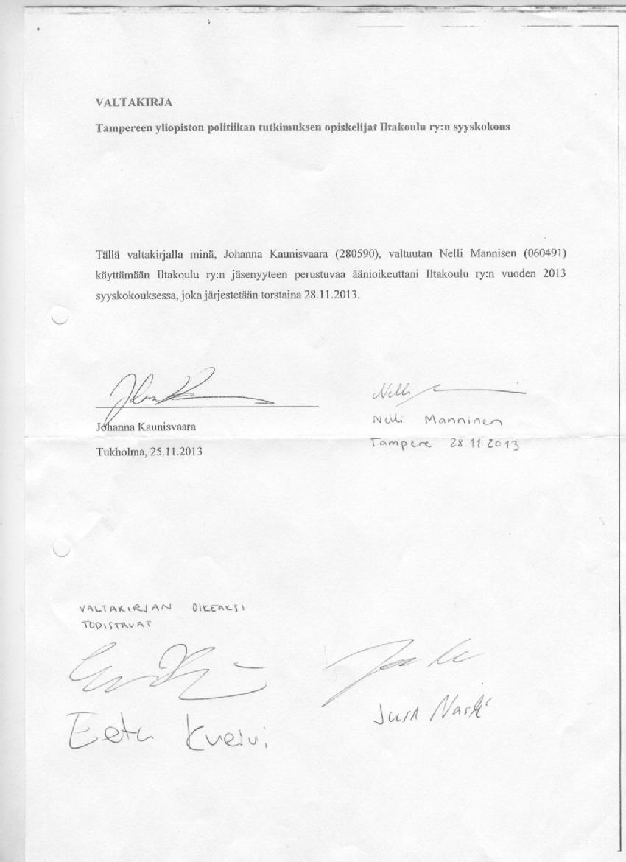 valtakirja vakuutusyhtiölle Kuusamo
